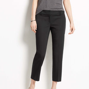 Ann Taylor Straight Cotton Crop/Ankle Pants 8 Tall